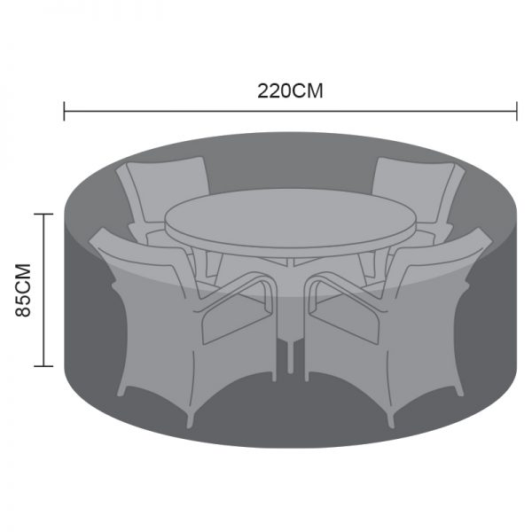 Dining Set Cover - 4 Seat Round