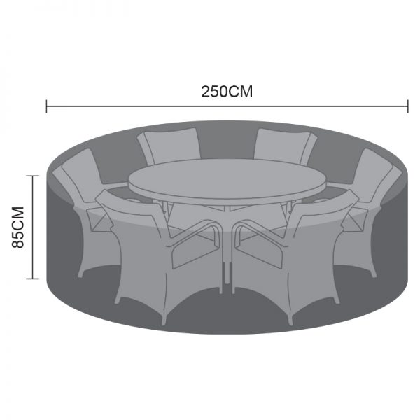 Dining Set Cover - 6 Seat Round