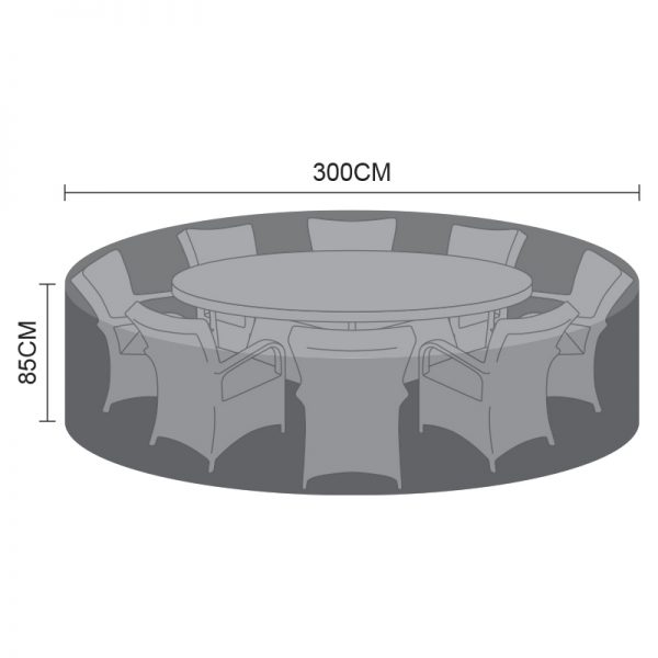 Dining Set Cover - 8 Seat Round