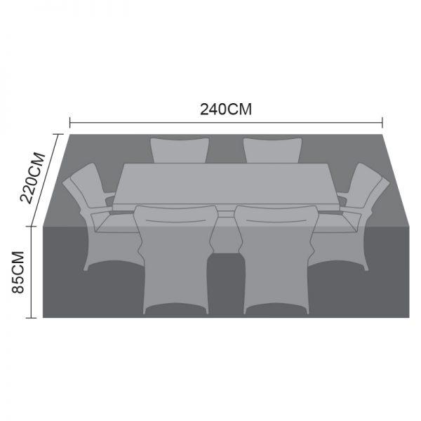 Dining Set Cover - 6 Seat Rectangular