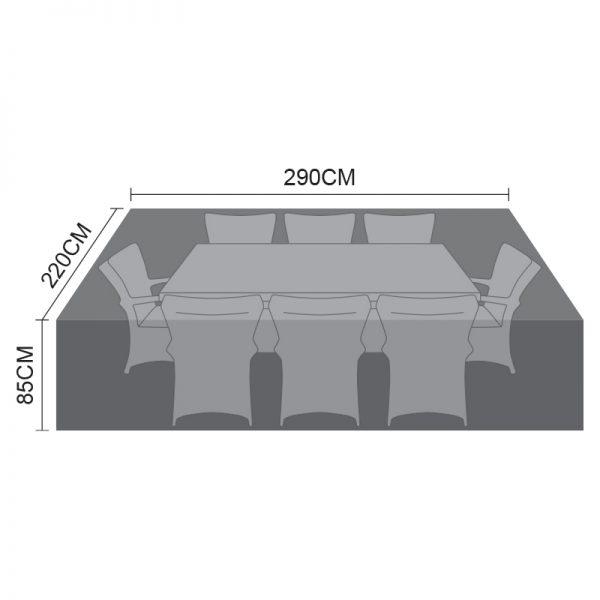 Dining Set Cover - 8 Seat Rectangular