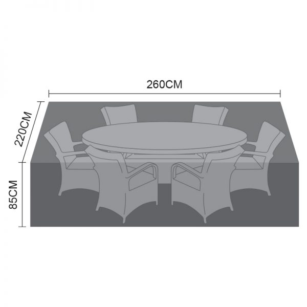 Dining Set Cover - 6 Seat Oval