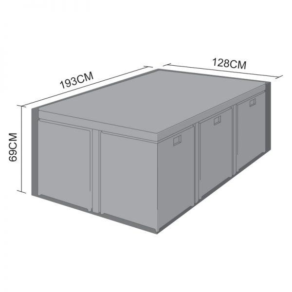 Cube Set Cover - 6 Seat Rectangular