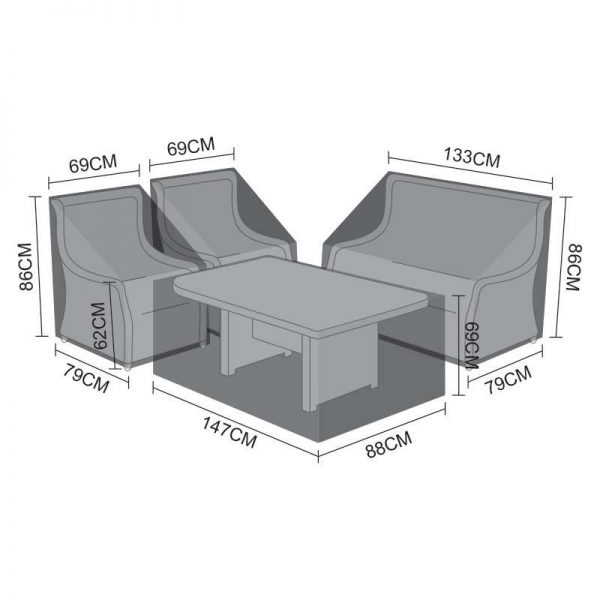 Sofa Dining Set Cover - Oyster 2 Seater
