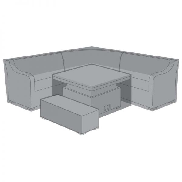 Corner Dining Set Cover -Harper Deluxe Rising/Fire Pit Table