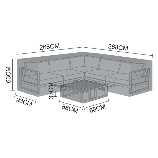 Cover for Alessandria Corner Sofa Set