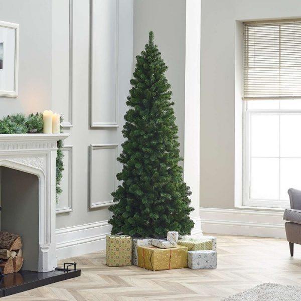 6ft Balsam Fir Slim Artificial Christmas Tree