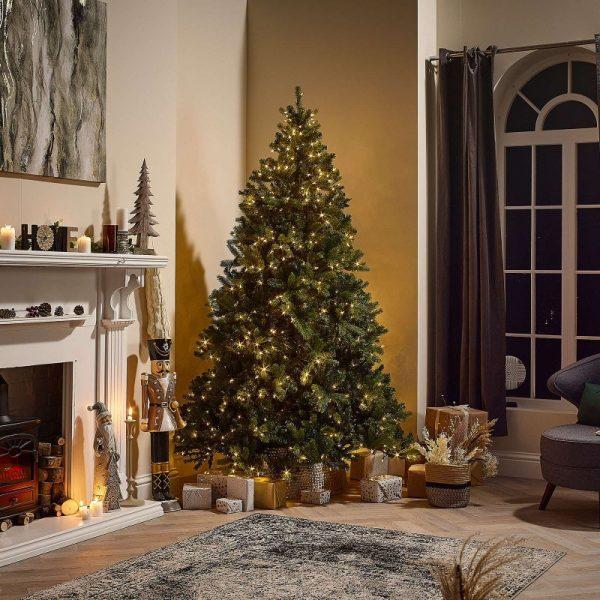6.5ft Douglas Fir Pre-Lit Artificial Christmas Tree