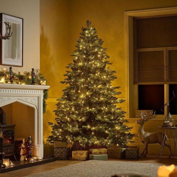 7.5ft Fraser Fir Pre-Lit Artificial Christmas Tree