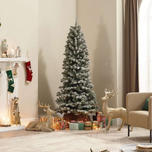 8ft Slim Frosted Balsam Fir Christmas Tree
